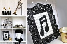 1940s Inspired Black and White Theme Party Decor Ideas