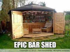 Perfect backyard bar idea!!