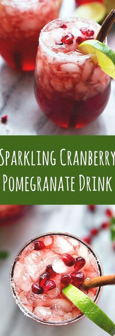 A non-alcoholic sparkling cranberry lime & pomegranate beverage -- perfect for holiday entertaining! Protein Breakfast, Breakfast Recipes, Vegan Recipes Easy, Vegetarian Recipes, Pomegranate Drinks, Homemade Muesli, Kinds Of Salad, Non Alcoholic Drinks, Eating Plans