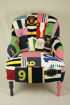 I love the idea of doing this with meaningful tshirts, or maybe Ryan's old football jerseys?