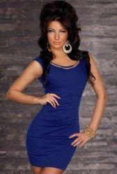 Blue Casual Style Mini Dress