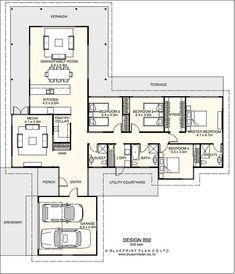 T Shaped House Plans Nz