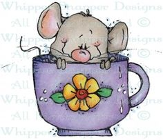 Whipper Snapper Designs is an expansive online store selling a large variety of unique rubber stamp designs. Painting Patterns, Fabric Painting, Painting & Drawing, Cartoon Pics, Cartoon Art, Animal Drawings, Cute Drawings, Mouse Crafts, Hamster