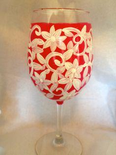 Custom made wine glass  www.facebook.com/brusheswithaview