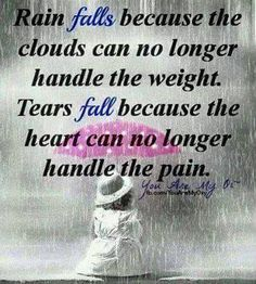 I can relate to the rain ....