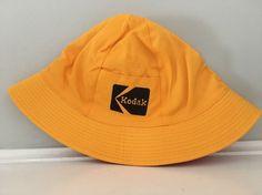 Vintage Kodak Bucket Hat Reversible Red Yellow Medium Large Pocket NOS   Kodak  Bucket Bucket caa3f46d6b85