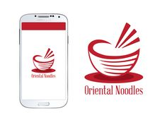 BRAND NEW LOGO!  Oriental Noodles is a hospitality logo designed with a rich red, noodle bowl and abstract chop-sticks. Available online at www.logodesignsshop.com