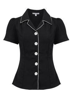 Rock n Romance supply a wide range of 1940s and 1950s vintage shirts and blouses. Shop online today and get free delivery!