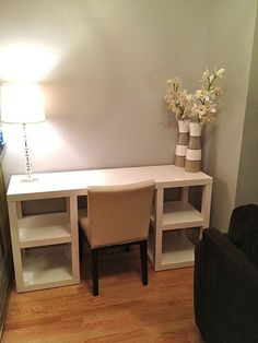 There are countless pimp ideas for this Ikea table. - Home Decor -DIY - IKEA- Before After Ikea Furniture, Furniture Design, Furniture Stores, Ikea Table, Diy Table, Diy Casa, Home And Deco, My New Room, Home Projects