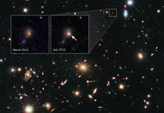 Hubble Astronomers Use Supernovae to Gauge Power of Cosmic Lenses.  Image Credit: NASA, ESA, STScI, et al.