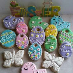 Sugar cookies. Spring time. Easter.  By Baked Ambition.
