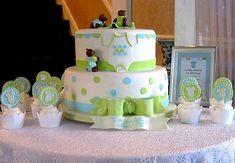 Boy Baby Shower Cake w/Cupcakes