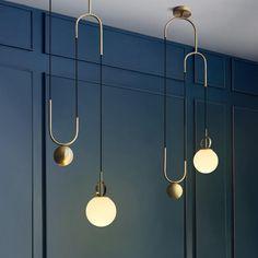 Cradle Brass Art Deco Pulley Pendant Light #Ceiling #ceiling-light #ceilinglight