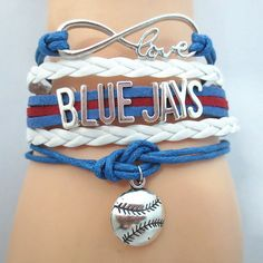 Infinity Love Los Angeles Dodgers Baseball - Show off your teams colors! Cutest Love Los Angeles Dodgers Bracelet on the Planet! Dodgers Gear, Let's Go Dodgers, Dodgers Baseball, Baseball Mom, Dodgers Party, Dodgers Outfit, Baseball Fabric, Baseball Bracelet, Baseball Jewelry