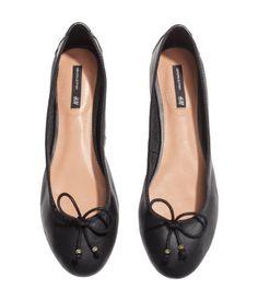 Leather Ballet Flats | H&M US