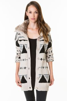 #fashion #mode #TALLYWEiJL - #Aztec #knitted #cardigan