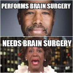 The Difference Between Ben Carson and Maxine Waters Perfectly Explained - The Political Insider Maxine Waters, Liberal Logic, Liberal Hypocrisy, Socialism, Politicians, Ben Carson, Out Of Touch, Conservative Politics, Funny Politics