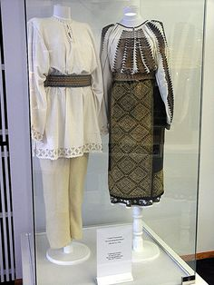 XIX-th century Traditional Romanian Folk Costumes from Muntenia, Muscel area, Arges county. Traditional Fashion, Traditional Dresses, Folk Costume, Costumes, Folk Embroidery, Daily Wear, Vintage Outfits, Textiles, Popular