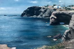 "From my exhibition.from Cabo de Palos""; soft pastel and water colour on Fabriano paper. By Jorge Gómez Sea Paintings, Cabo, Pastel, Watercolor, Colour, Outdoor, Landscape Paintings, Pen And Wash, Color"