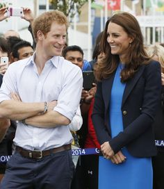 Pin for Later: Katy Perry Belts It Out For a Very Special White House Performance Sweet Smiles In Glasgow, Scotland, Prince Harry shared a laugh with Kate Middleton during their visit to Commonwealth Games Village.