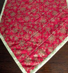 Tablerunner de patchwork de Navidad. Tradicional por StephsQuilts