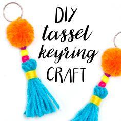 DIY Tassel Keyring Craft — Doodle and Stitch Crafts For Teens To Make, Easter Crafts For Kids, Crafts To Sell, Easy Crafts, Diy And Crafts, Toddler Crafts, Easter Ideas, Diy Fidget Spinner, Fidget Spinners
