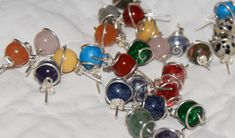 A range of gemstones and glass colours to chose from.
