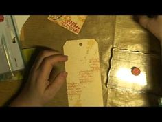 how to make a tag with lots of background stamps from tim holtz.mpg