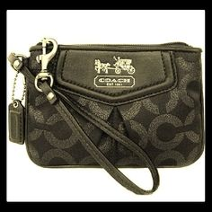 9e29835ce538 NWOT Coach Madison Op Art BLK BLK Wristlet  44620 Brand-New Coach Op