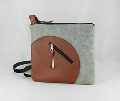 Kabelky - kabelka Orbis šedo - hnedá