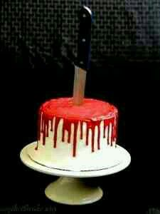 Bloodied cake