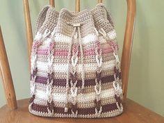 Crochet PATTERN Chain Stripe Shoulder Bag DIY Crochet Purse