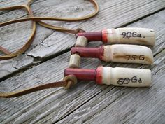Vintage Black Powder Measurers - Made from Whitetail Deer Bones - 60, 75, 90 Grains - Muzzleloading Supplies by LucysLuckyDeals on Etsy