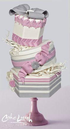 @KatieSheaDesign ♡❤ #Cakes ❤♡ ♥ ❥ Victorian Mauve Dusty Pink