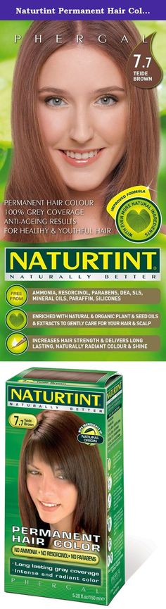 Naturtint Permanent Hair Color - 7.7 Teide Brown, 5.28 fl oz (6-pack). Naturtint® is the first permanent hair color, free of harsh chemicals, that provides both beautiful, radiant color and is healthy for your hair! Combining natural activators that nourish your hair and micro-pigments that provide a more intense color, Naturtint even covers gray completely in one application, while restoring softness, shine and vitality. Naturtint is available in 29 mixable shades, and each package…
