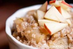 Clean Eating Apple Pie Oatmeal Recipe on Yummly. @yummly #recipe