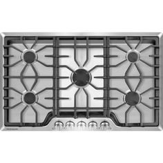 frigidaire 36 inch gas cooktop with 5 sealed burners continuous cast iron grates control knobs and 450 to center burner and ada compliant