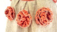 ganchillo / coser bebé lino orgánico / niño/niña flor