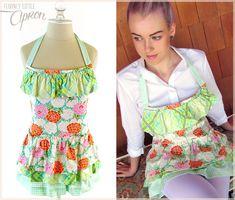 Shorter Style Triple-Flounce Apron | Sew4Home--Free Pattern