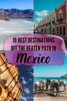 Where else can you go in Mexico, other than the popular Tulum and Cancún? Here is a list of 10 gorgeous destinations that are off the beaten path in Mexico to help you plan a unique holiday. Get the best things to do in each area, as well as the best hotel recommendations now. #Mexico Mexico Destinations, Amazing Destinations, Travel Destinations, Travel Tips, Beautiful Places To Visit, Cool Places To Visit, Best Beaches In Mexico, Mexico Travel, Mexico Vacation