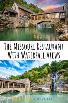 Mill & Canyon Grill Is One Of Missouri's Most Breathtaking Waterfall Restaurants - For a magical, romantic dining experience, head to this Missouri restaurant with beautiful waterfal - Midwest Vacations, Romantic Vacations, Romantic Getaway, Romantic Travel, Vacation Destinations, Dream Vacations, Vacation Spots, Vacation Ideas, Romantic Destinations