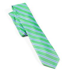Men's Chaps Striped Tie, Green