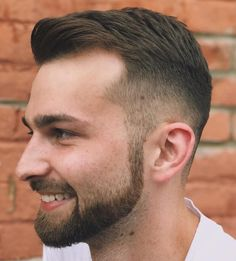 Crew Cut With Facial Hairstyle frisuren, 50 Classy Haircuts and Hairstyles for Balding Men Popular Haircuts, Cool Haircuts, Cool Hairstyles, Men's Haircuts, Men Hairstyle Short, Drawing Hairstyles, Mens Thin Hairstyles, Men Haircut Short, Elegant Hairstyles