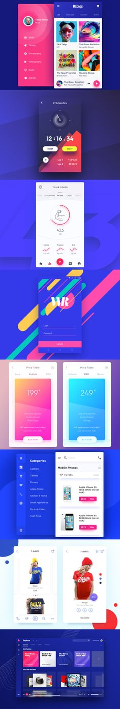 very nice use of colours Interface Web, User Interface Design, Mobile Web Design, App Ui Design, Responsive Web Design, Ui Web, Film App, Ui Design Inspiration, Music App