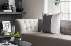 Buy Pimlico Linen Cushion from Kelly Hoppen London Linen, Furniture, Soft Furnishings, Linen Cushion, New Homes, Home Decor, Pimlico, White Cushions, Furnishings