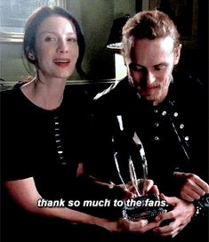 Caitriona Balfe and Sam Heughan have a special message to thank you, Outlander fans.