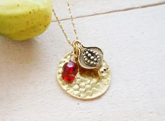 Pomegranate & Gold plated Hand Stamp Blanks by MUSEJUDAICA on Etsy, $48.00