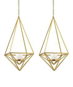 Diamond Pillar Light Pendant - Set of Two