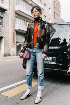 Street style Milan Fashion Week, febrero 2017 © Diego Anciano