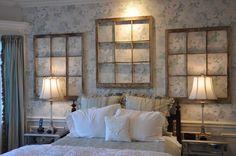 64 Ideas old wood window frames bedrooms Old Window Decor, Old Window Frames, Frames On Wall, Window Panes, Window Seats, Buy Frames, Bedroom Frames, Bedroom Wall, Bedroom Decor